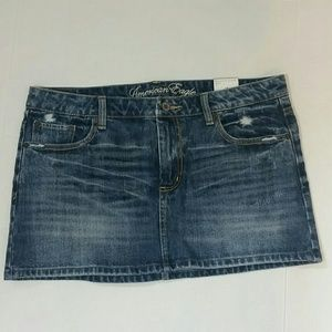 NWT American Eagle Reconstructed Denim Mini Skirt
